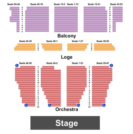 Nourse Theatre Seating Chart