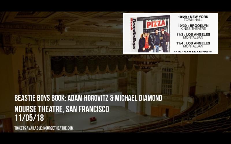 Beastie Boys Book: Adam Horovitz & Michael Diamond at Nourse Theatre